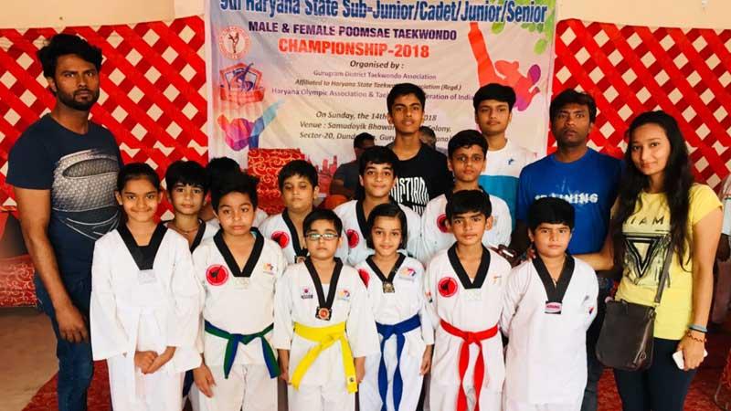 Ikshita Mahesh Won Accolades at Taekwondo Championship