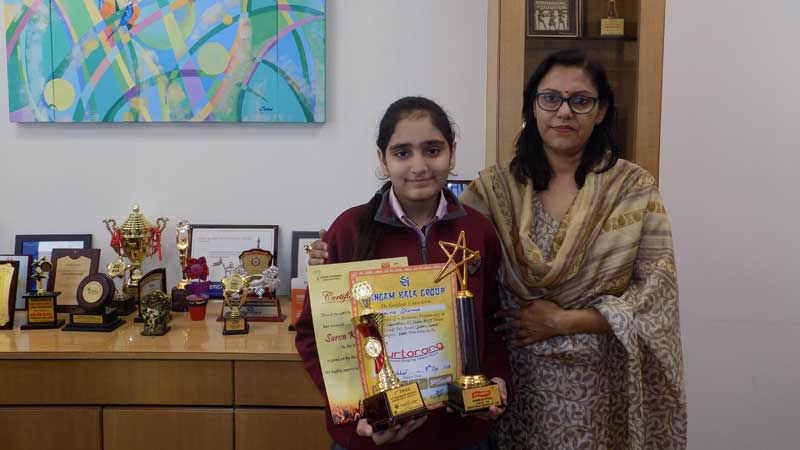 Students won laurels at 'Suron Ka Utsav'