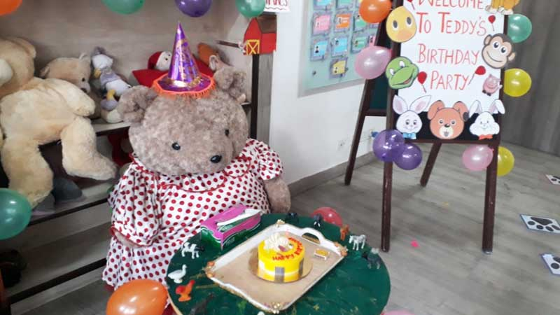 Celebrating Teddy's birthday at Toddlers