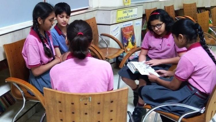manav rachna school library