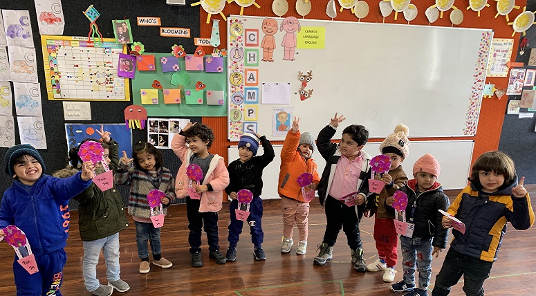 Toddlers celebrated 'Pink Day'