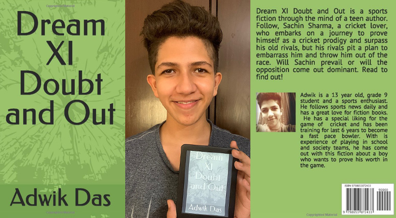 Adwik Das of Grade IX talks about his book 'Dream XI Doubt and Out'