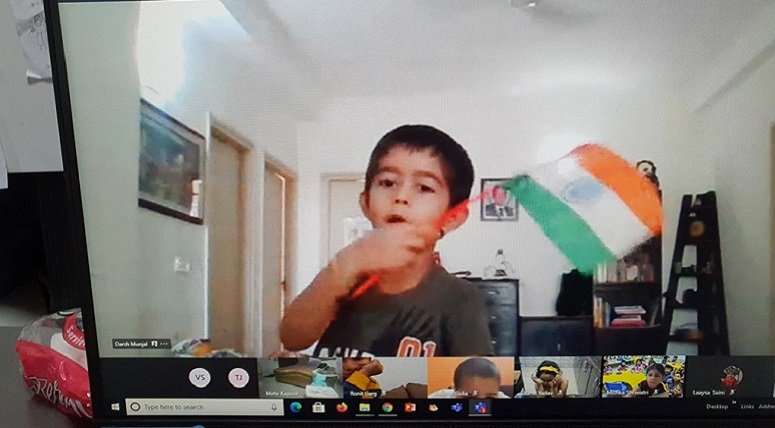 'Hindi KavitaVaachan' Activity at Kindergarten