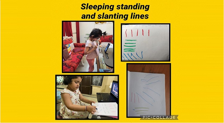 Nursery kids introduced to Patterns & lines