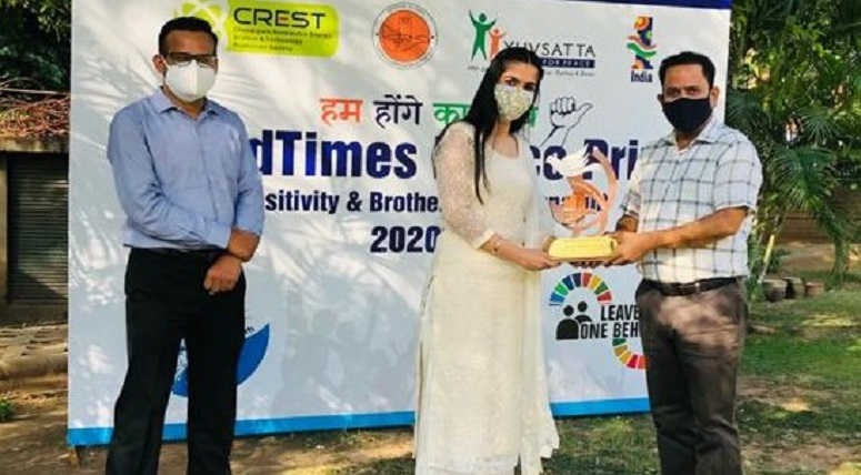 MRIS Mohali honoured with 'COVID Times Peace Prize'