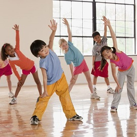 kids aerobics in pandemic