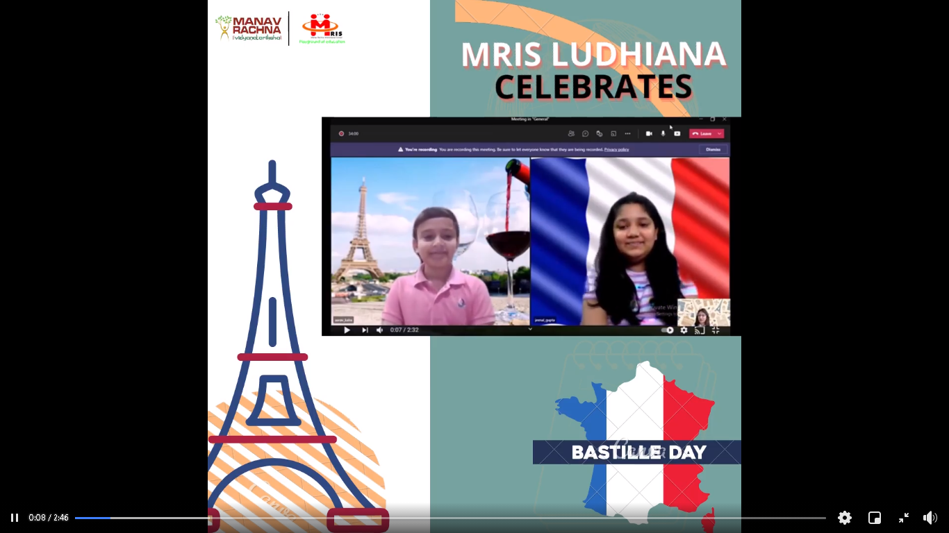 Students went on a Virtual Trip to Paris